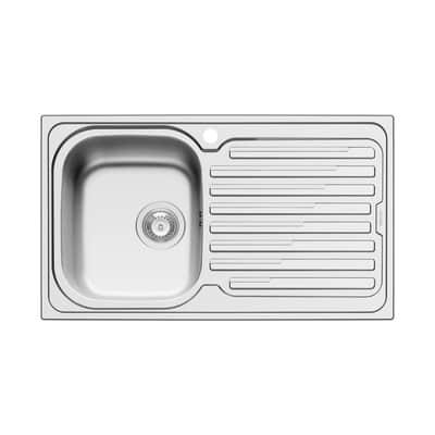 Lavello incasso Amaltia Dekor L 86 x P  50 cm 1 vasca SX + gocciolatoio