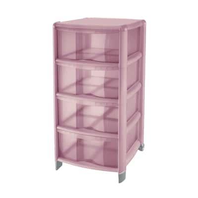 Cassettiera Bambù rosa
