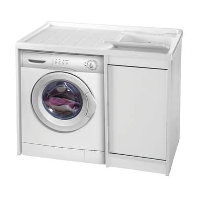 Mobile lavatoio coprilavatrice Strong bianco L 108,5 x P  62 x H 93 cm