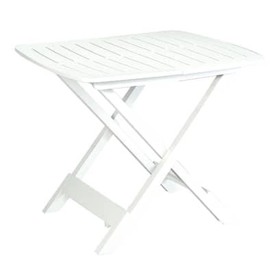 Tavolo pieghevole Tevere, 79 x 72 cm bianco