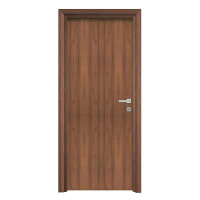 Porta da interno battente Auda noce 60 x H 210 cm reversibile
