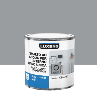 Smalto manounica Luxens all'acqua Grigio Granito 3 opaco 0.5 L