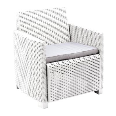 Set 2 poltrone O divano a 2 posti lipari bianco