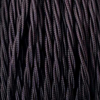 Cavo treccia tessile Merlotti 0,75 mm marrone, matassa 5 m