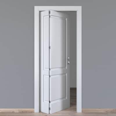 Porta da interno pieghevole asimmetrica Dubhe bianco 80 x H 210 cm sx