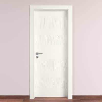 Porta da interno battente Fence bianco 90 x H 210 cm dx