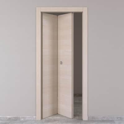 Porta da interno pieghevole Grain rovere grano 80 x H 210 cm sx