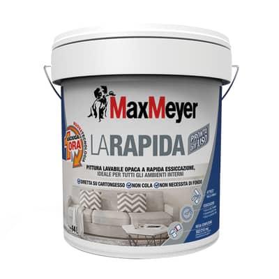 Idropittura lavabile bianca Max Meyer Rapida 14 L