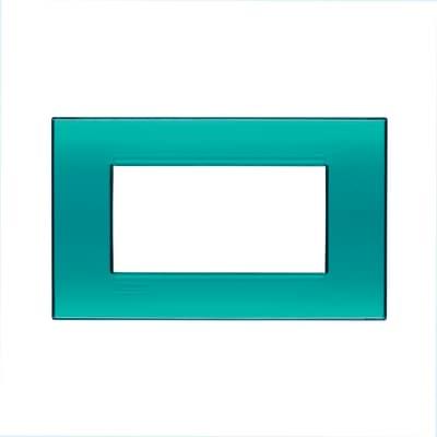 Placca 4 moduli BTicino Livinglight verde