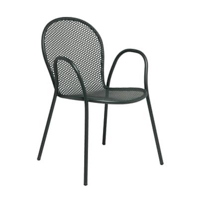Sedia impilabile Pavesino grigio antracite