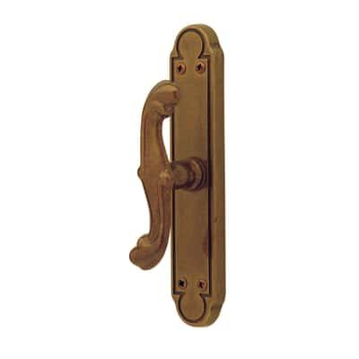 Maniglia per finestra martellina BAROCCO in ottone brunito