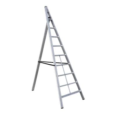 Scala agricola alluminio Gierre 8 gradini, per lavori fino a 3,3 m