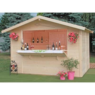 chiosco in legno grezzo Spritz 1 ribalta 5,9 m², 1 ribalta