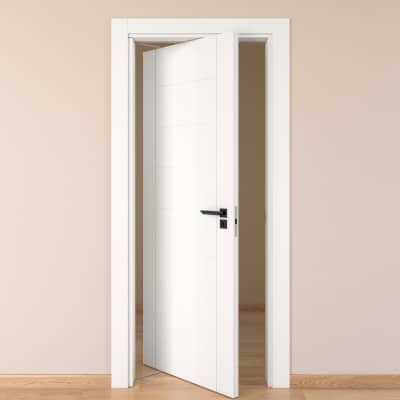 Porta da interno rototraslante Chamberì bianco 80 x H 210 cm sx