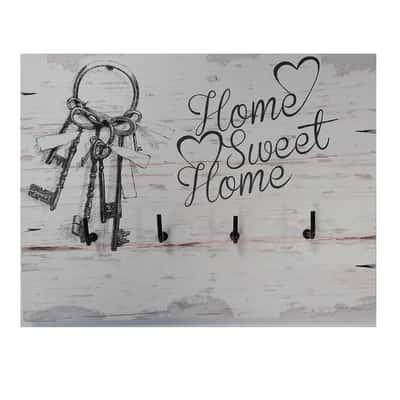 Bacheca porta chiavi Home sweet home Fantasia 20 x 1 x 15 cm