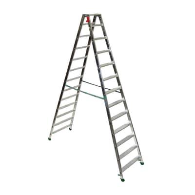 Scala doppia alluminio Facal 13 gradini, per lavori fino a 4 m
