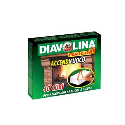 Cubi accendifuoco Diavolina 40 pezzi