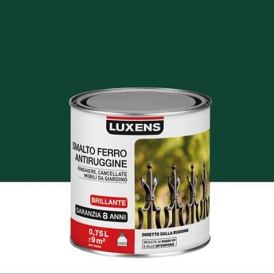 Smalto per ferro antiruggine Luxens verde muschio brillante 0,75 L