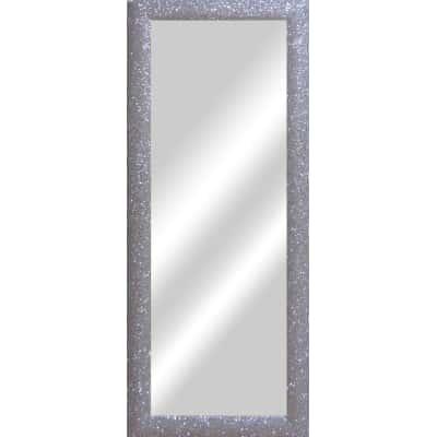 specchio da parete rettangolare Glitterata argento 42 x 132 cm ...