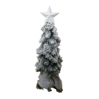 Albero di Natale artificiale Mini con led e stella H 65 cm