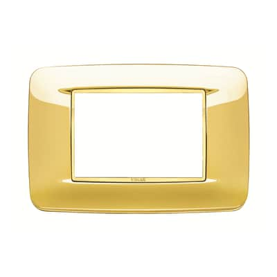 Placca 3 moduli Vimar Eikon oro lucido