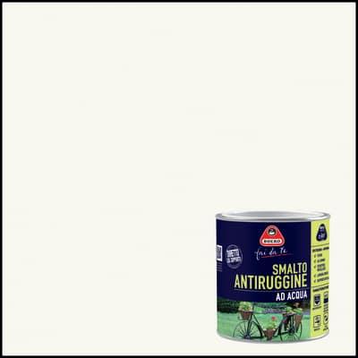 Smalto per ferro antiruggine bianco ghiaccio satinato 0,5 L
