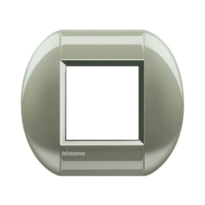 Placca 2 moduli BTicino Livinglight titanio