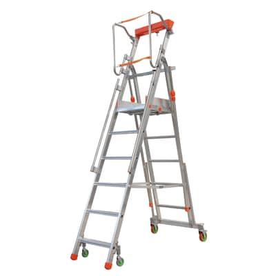 Scala castello alluminio facal 6 gradini per lavori fino for Scale alluminio leroy merlin