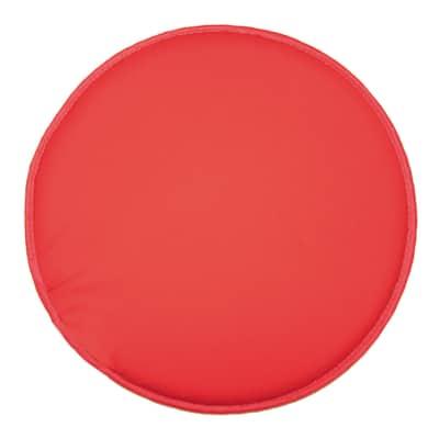Cuscino per sedia tondo retro antiscivolo rosso Ø 38 cm