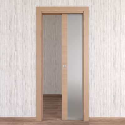 Porta da interno scorrevole Sheraton rovere naturale 80 x H 210 cm reversibile