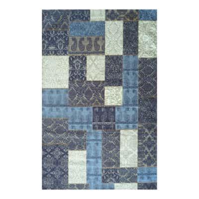 Tappeto modern kilim blu 160 x 230 cm prezzi e offerte for Tappeti kilim leroy merlin
