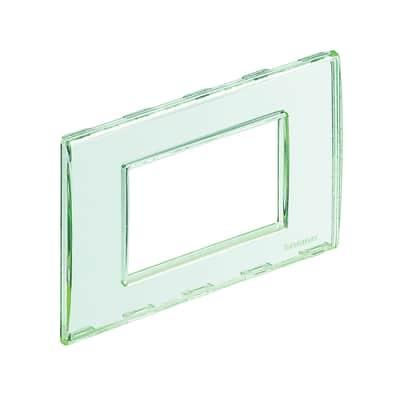 Placca 3 moduli BTicino Livinglight trasparente personalizzabile