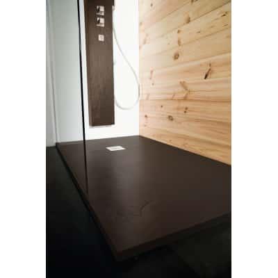 Piatto doccia resina Pizarra 90 x 80 cm cacao