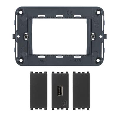 Presa USB Vimar Idea grigio