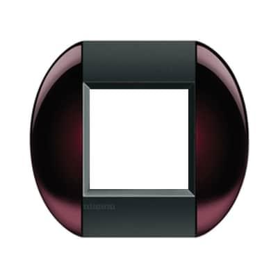 Placca 2 moduli BTicino Livinglight brown