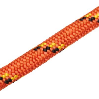 Corda in polipropilene 15 m arancio/nero/giallo con segnalino