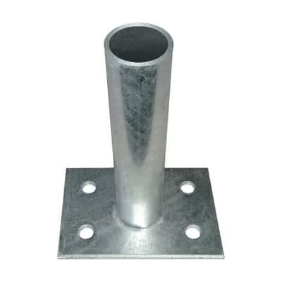 Supporto zincato per palo Medium