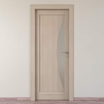 Porta da interno battente Halfmoon paglia 80 x H 210 cm sx