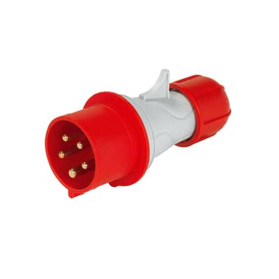 Spina industriale 3P+N+T da 32 ampere