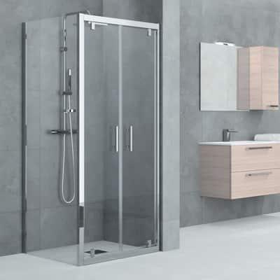 Porta doccia battente elyt 72 78 h 190 cm cristallo 6 mm for Porta doccia leroy merlin