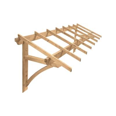 Tettoia in legno l 325 x p 120 cm prezzi e offerte online for Tettoia legno leroy merlin