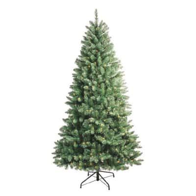 Albero di Natale artificiale con led luce calda H 210 cm