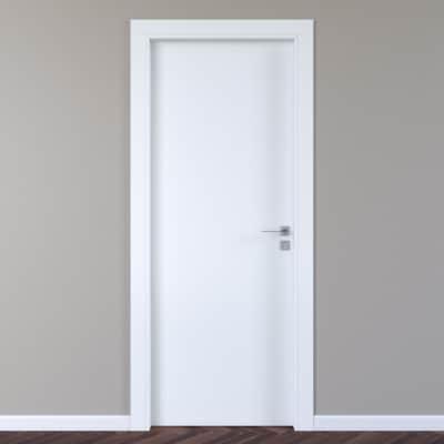 Porta per hotel battente Radisson white bianco 70 x H 210 cm sx
