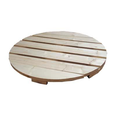 Piano tavolo tondo dogato legno Ø 80 cm grezzo prezzi e offerte ...
