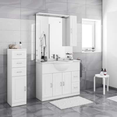 Mobile bagno Paola bianco L 100 cm prezzi e offerte online | Leroy ...