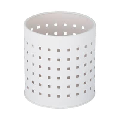 Porta posate bianco H 13,1 cm