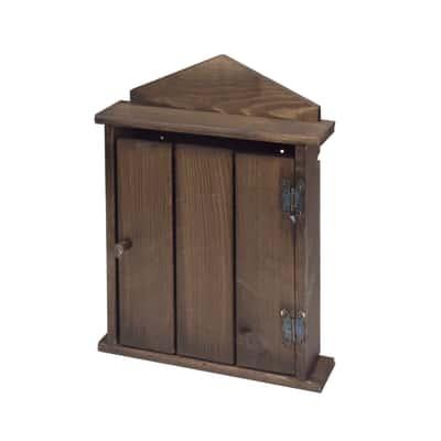 Bacheca porta chiavi 5 posti noce 21,5 x 5,5 x 29 cm