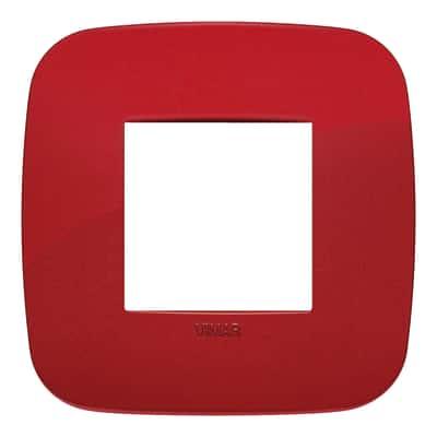 Placca 2 moduli Vimar Arké rosso