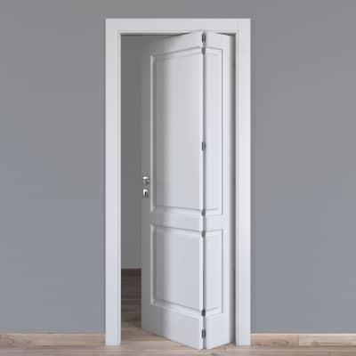 Porta da interno pieghevole asimmetrica Dubhe bianco 70 x H 210 cm dx