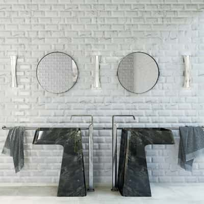 Piastrella Biselado Carrara 10 x 20 cm bianco